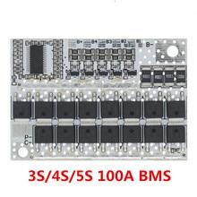 5S 100A 21V 3S 4S литий-ионная батарея 18650 зарядное устройство плата защиты BMS с балансировкой для Drill Motor