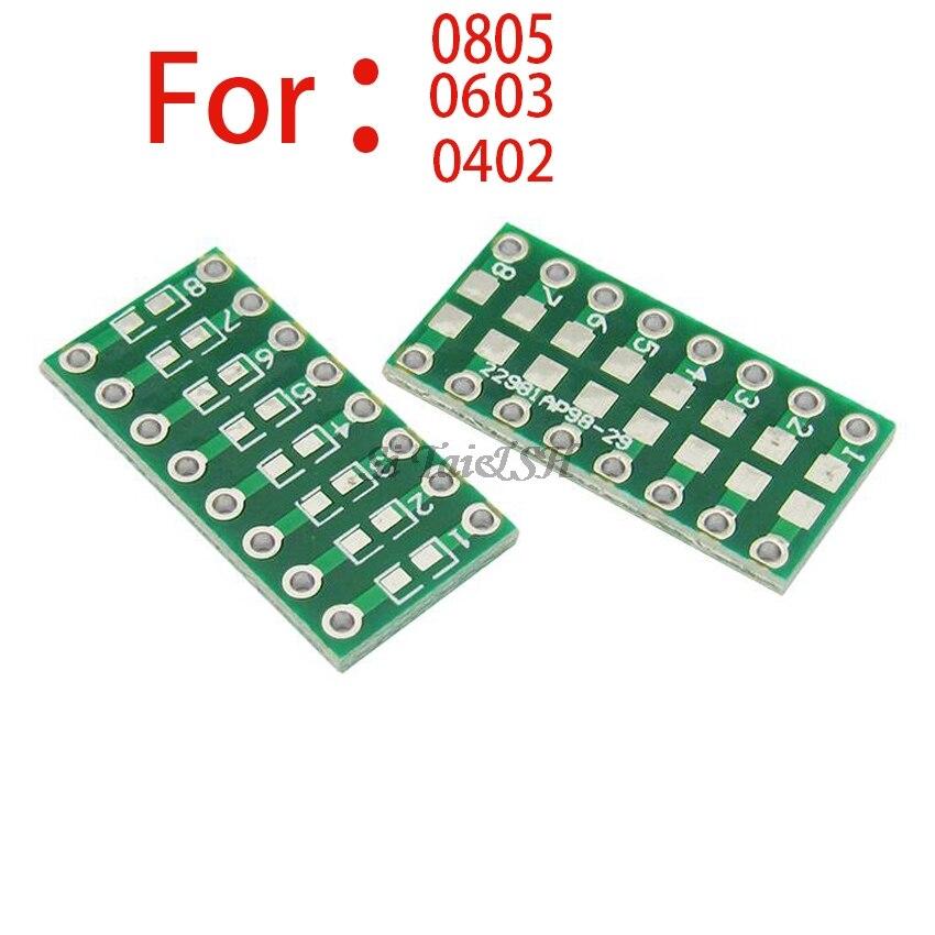 10pcs 0805 0603 0402 To DIP PCB Transfer Board DIP Pin Board Pitch Adapter Keysets