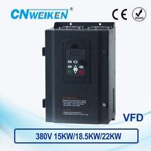 Convertidor de frecuencia de Control de Vector WK600 inversor de frecuencia variable trifásico 380V 15kw/kw/22kw motor de CA controlador de velocidad