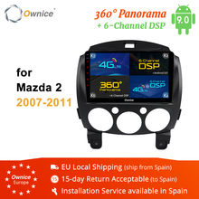 Ownice K2 K3 K5 K6 9 #8243 Android 8 1 2din 360 Panorama DSP 4G LTE Car DVD Radio Recorder Multimedia Player for Mazda 2 2007 #8211 2011 cheap Double Din 4*45W JPEG 1G 2G 4G 1024*600 Bluetooth Built-in GPS Charger FM Transmitter Mobile Phone MP3 Players Radio Tuner