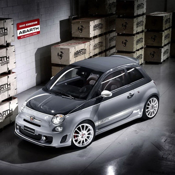 Pair of Competizione Side Skirt Decals Custom Colours Stickers for Abarth