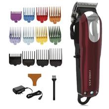 Fryzjer profesjonalna maszynka do włosów mężczyzna elektryczna maszynka do włosów ścinanie włosów maszyna akumulator do cięcia włosów przewodowe bezprzewodowe narzędzie jak z salonu tanie tanio GEEMY Akumulator Elektryczny Zarówno Pracy Globalny Uniwersalny (100-240 V) universal STAINLESS STEEL 85 Min