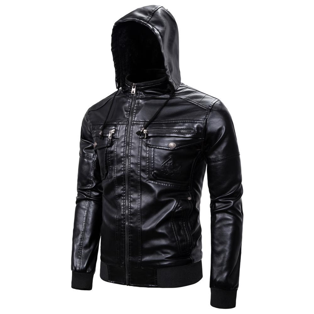 Men's Winter Leather Jacket New Motorcycle Genuine Leather Leather Warm Jacket Coat Men's Fashion Masculinas Windproof Coat Men