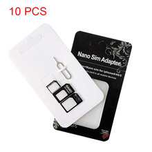 10 Set Nano Micro Mini Standard SIM Card Adapter Kit Set Ada