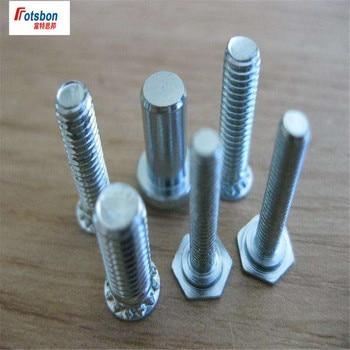 NFH-M6-8/10/12/15/18/20/22 Hexagonal Head Studs Self-clinching Stud Pin Clinch Pins Motherboard Sheet Metal Brass PEM Standard