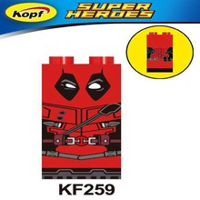 Single Sale KF259 For Legoing Marvel Deadpool Figures Building Blocks Super Hero Model Toy For Children Christmas Gifts Legoings(China)