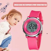 Children Watch 5ATM Waterproof LED Sports OHSEN Digital Kids