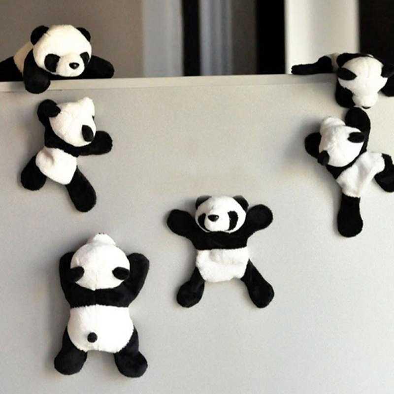 パンダ冷蔵庫ステッカー冷蔵庫マグネットかわいいソフビぬいぐるみパンダステッカーお土産ギフトのおもちゃ子供の家の装飾ドロップシッピング