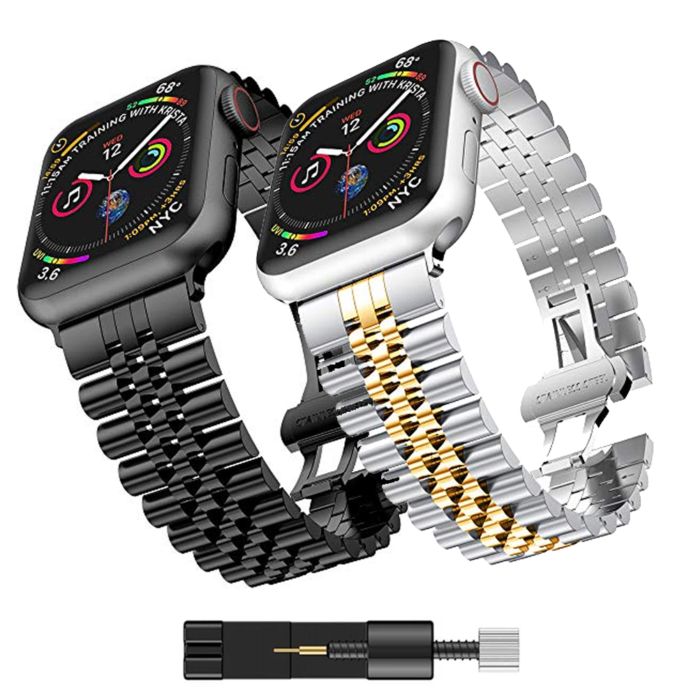 Metal strap for Apple watch 6 5 4 SE band 40mm 44mm Metal replacement strap for iwatch 3 2 42mm 38mm Metal stainless steel strap