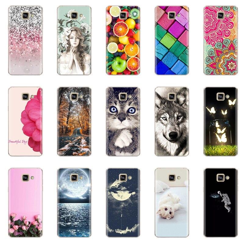 Capa de silicone para samsung galaxy a3 2017 caso dos desenhos animados macio tpu caso do telefone para samsung a3 a 3 2017 a320 a320f volta capa