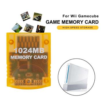 Plastic 1024MB Memory Storage Card Fit for Nintendo Wii Gamecube GC Game Console Fast Copy Download and Low Battery Consumption image