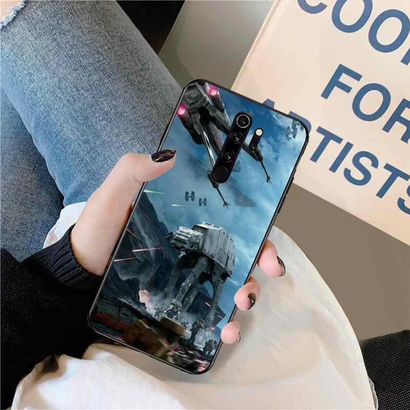 PENGHUWAN حرب النجوم غطاء أسود لينة شل جراب هاتف ل Redmi نوت 8 8A 8T 7 6 6A 5 5A 4 4X 4A الذهاب برو