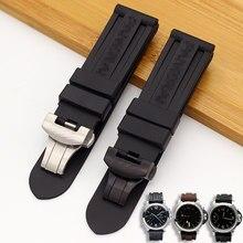 Uhr Armband Für Panerai PAM 368 389 111 351 441 Gummi 22 24 26mm Armband Uhr Zubehör Silikon uhr Band Kette