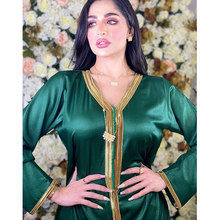 AB010 Kebaya 2021 Muslim Woman Long Dress Hijab Set Female Arabic Prayer Clothing World Apparel Store Robe Gala Green Yellow