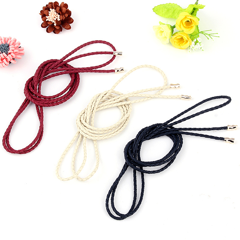 Elastic Woven Rope Waist Vintage Belts Women  Dress Cummerbunds Waistband Simple Temperament Ladies Belt