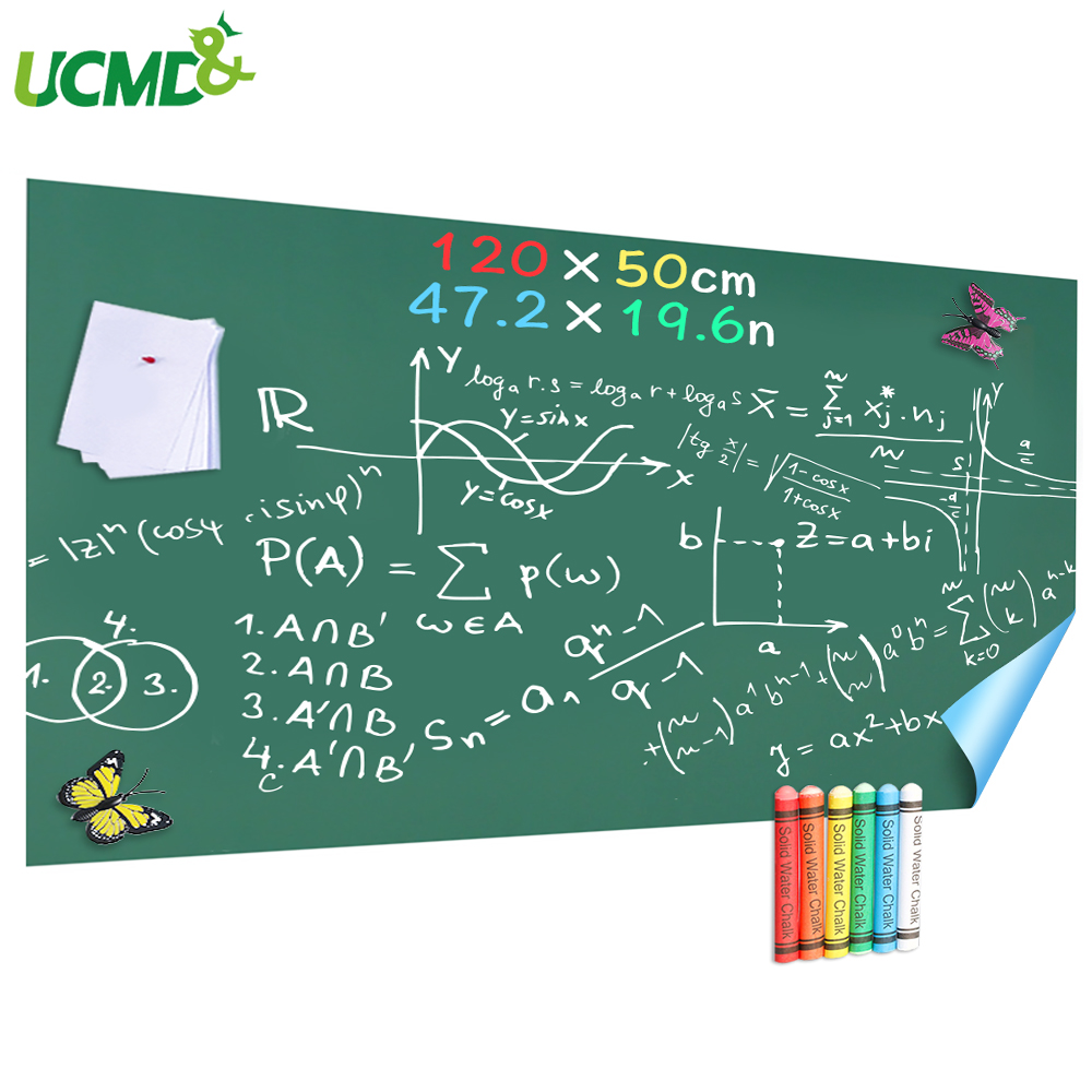 120x50cm Hold Magnets Chalkboard Sticker Erasable Children Graffiti Writing Painting Learning Board For School Office Home Decor