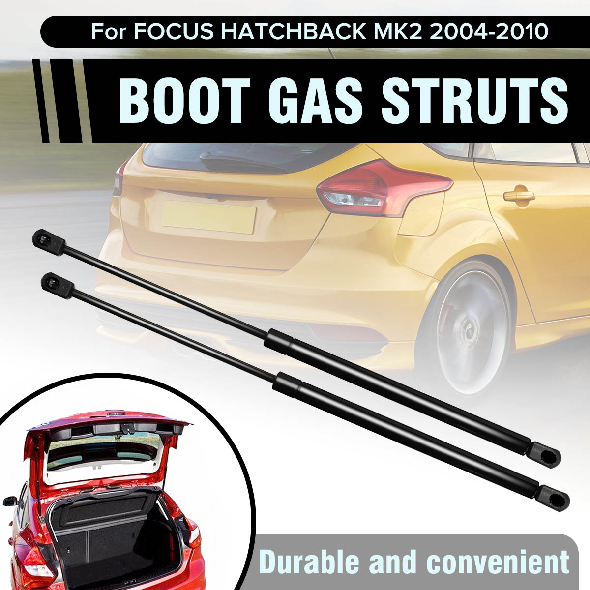 REAR TAILGATE BOOT TRUNK GAS STRUTS SUPPORT HOLDER DAMPER FOR FORD KUGA 2008