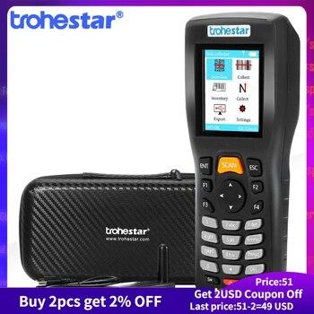 Trohestar Wireless Barcode Scanner 1D 2D QR Bar Code Reader Handheld Inventory Counter Data Collector Bar Code Scanners недорого
