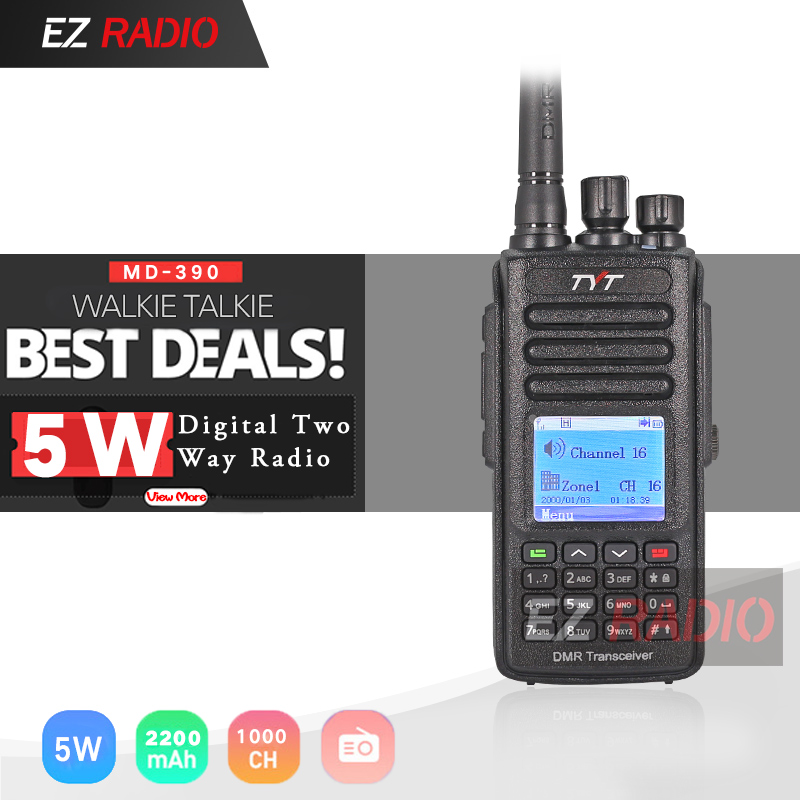 TYT MD-390 DMR Digital Walkie Talkie MD-UV390 Dual Band TYT DMR Optional GPS IP67 Waterproof Dustproof Upgrde Of MD-380 MD-UV380
