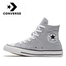 Converse – Chuck Taylor All Star unisexe, baskets de skateboard, chaussures classiques grises hautes en toile originales pour