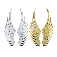 Gran oferta 1 par etiqueta engomada del coche de la motocicleta del coche accesorios oro/coche plateado estilo de Metal de moda pegatinas 3D