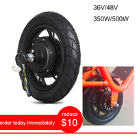 Adult Electric Scooter Accessories ebike Conversion Kit 36V 350W Electric Motor Wheel Electric Bicycle 48V 500W Hub Motor 12inch