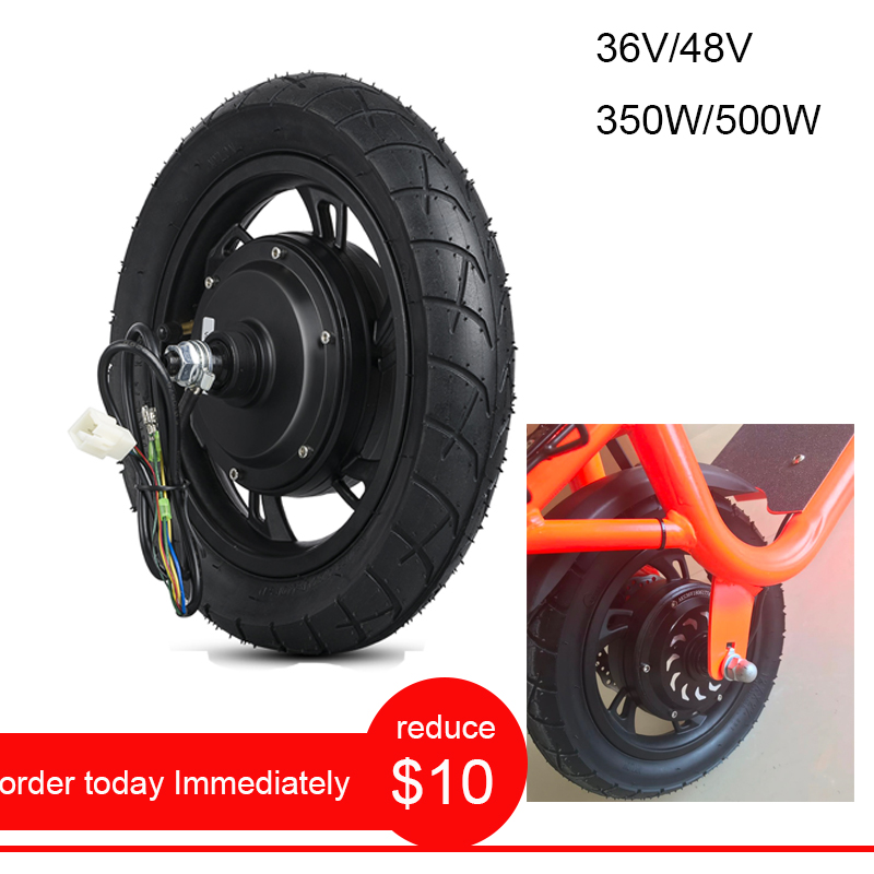 Adult <font><b>Electric</b></font> <font><b>Scooter</b></font> Accessories ebike Conversion Kit 36V 350W <font><b>Electric</b></font> <font><b>Motor</b></font> Wheel <font><b>Electric</b></font> Bicycle 48V <font><b>500W</b></font> Hub <font><b>Motor</b></font> 12inch image