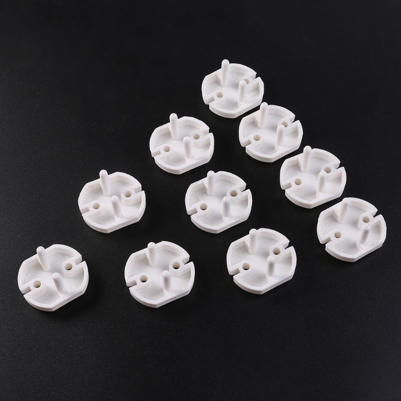 10pcs EU Power Socket Outlet Plug Protective Cover Baby Child Safety Protector QX2D