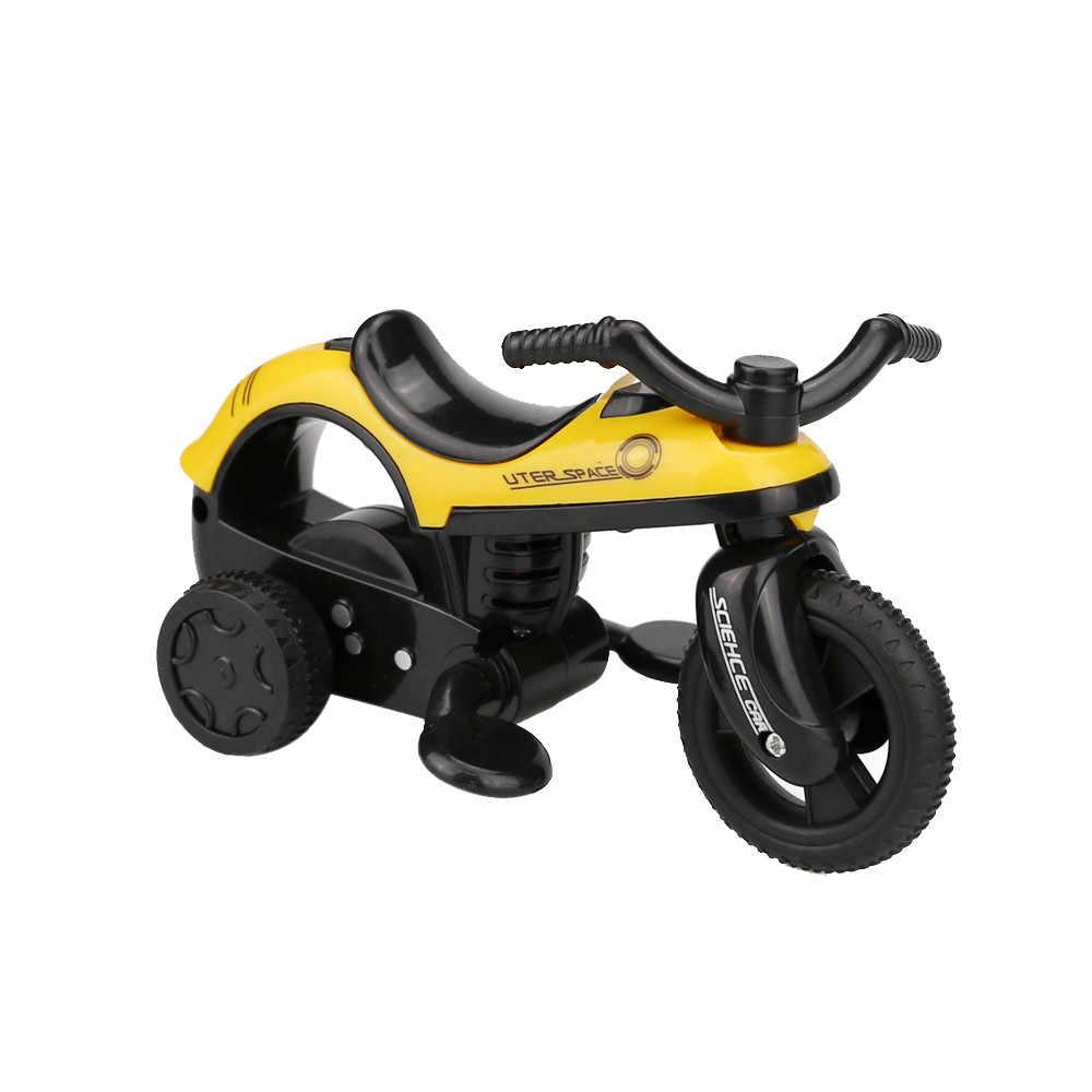 Mini bicicletas traseras de vehículo con rueda de neumático grande regalos creativos para niños negro Diecast aleación motocicleta modelo juguete niños g918