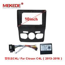 MEKEDE Radio de coche cara tablero para Citroen C4 2004-2009/C4L 2013-2016 Multimedia DVD marco de Panel de navegación GPS ajuste de cable de alimentación