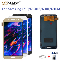 цены на J710 LCD For Samsung Galaxy J7 2016 Display J710 J710F J710M J710H J710FN LCD Display Digitizer Touch Screen Digitizer Assembly  в интернет-магазинах