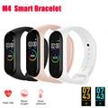 M4 смарт-Браслет фитнес-Trcker спортивный браслет шагомер сердечного ритма крови Давление Bluetooth здоровья Wirstband Водонепроницаемый Smartband