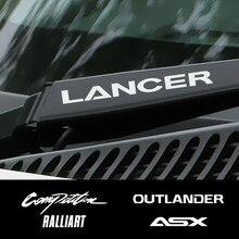 4PCS Auto Vinyl Fenster Wischer Dekor Aufkleber Für Mitsubishi Lancer 10 3 9 EX Outlander 3 ASX L200 Ralliart wettbewerb Zubehör