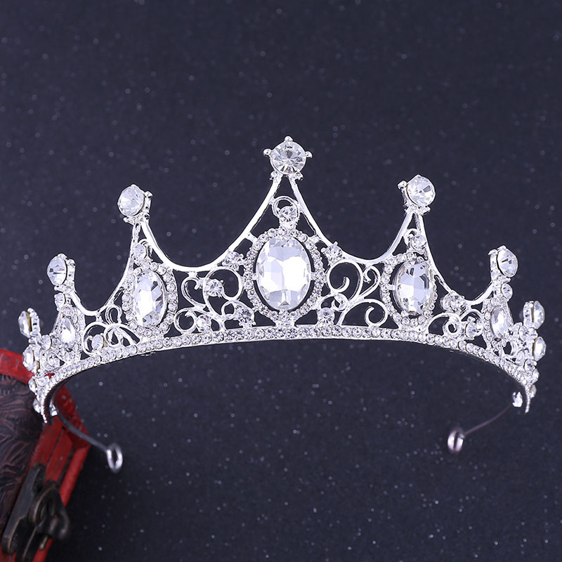 2020 New Wedding Crown For Bride Headpiece Baroque Tiara And Crown Fashion Princess Tiara Rhinestone Hair Accessories Headdress