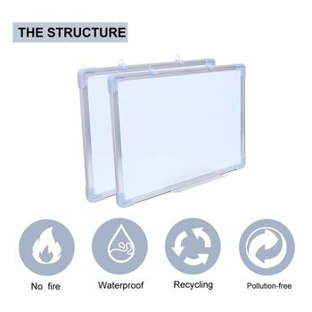 4 Sizes Double Side Hanging Whiteboard Office School Magnetic White Board Message Writing Bulletin Drawin - discount item  45% OFF Presentation Supplies