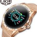 LIGE Модные женские Смарт-часы спортивные фитнес-трекер пульсометр Монитор артериального давления шагомер для Android iOS smartwatch