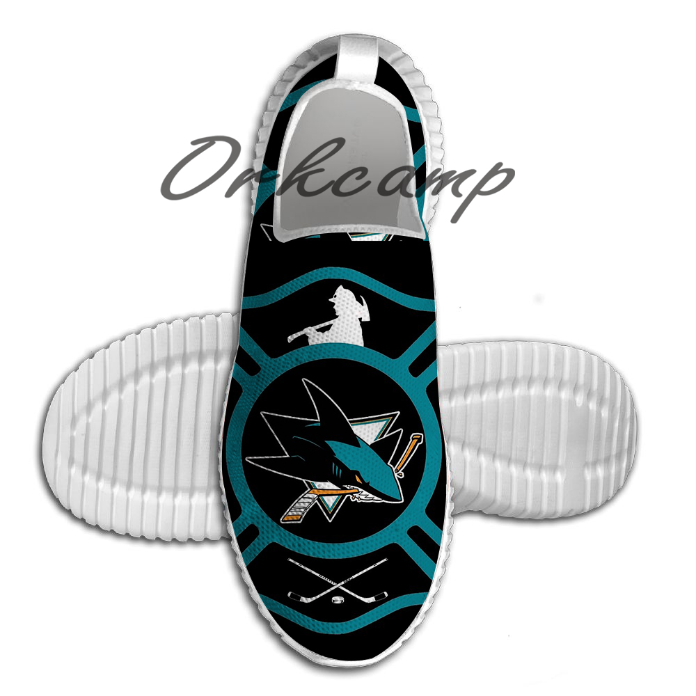 San Jose Fire Sharks Style Running Shoes Walking Shoes  Summer Comfortable Light Weight Jogging Yoga Shoes