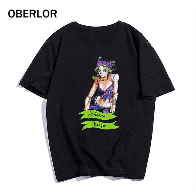 2020 T Shirt Cool JoJo Bizarre Adventure Graphic Print Tee Homme Japanese Anime Style Tshirt Plus Size Soft Tops T-Shirt Men 5