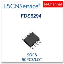 LoCNService 50 قطعة FDS6294 SOP8 30V 13A N قناة 6294 عالية الجودة