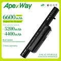 Apexway 11.1V 6 hücre pil için Clevo C4500BAT-6 C4500BAT 6 B4100M C4500 C4500BAT6 B4105 B5100M B5130M W150 W240C W240HU w250H