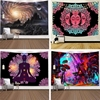 Индийская МАНДАЛА ГОБЕЛЕН настенный Sun Moon Таро настенный гобелен настенный ковер Psychedelic Tapiz колдовство настенный гобелен из ткани