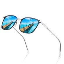 Nauq trend модные квадратные поляризованные солнцезащитные очки