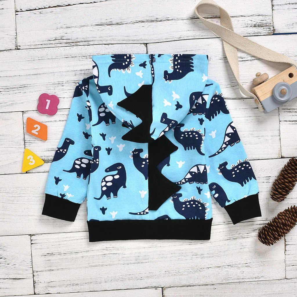 Kancoold Bayi Lapisan Pakaian Anak Laki-laki Anak Perempuan Dinosaurus Hoodie Fleece Kartun Anjing Sweater Jaket Anak Pakaian Fashion