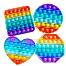 PopIt антистресс игрушки радужные пузырьки антистресс игрушки для взрослых и детей сенсорная игрушка для снятия аутизма Бесплатная доставка