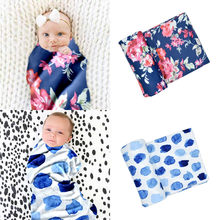 Newborn Baby Swaddle Practical Soft Stretchy Print Home Oversized Baby Wrap Blanket Bed Blankets Sleepsack(China)