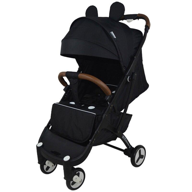Portable YOYAplus 3 High Landscape Reclining Pram Cart Baby Stroller Infant Baby Small Size Trolley Case Design Stroller Carrier