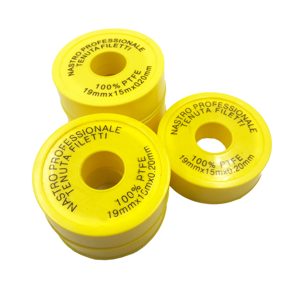 PTFE Industrial Sealant Tape, -190 to 370 Degree F Temperature Range, 15m Length, 19mm Width, 0.2mil thick , White, 20pcs