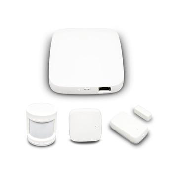 Tuya Zigbee Hub Smart Home PIR Sensor Door Sensor Temperature and Humidity Sensor Home Automation Scene Security Alarm Kit