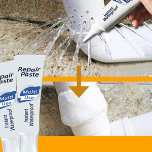 Image 4 - Melhoria da casa 100ml instantânea impermeável reparação pasta à prova dwaterproof água reparação rápida creme 17x4.3 cm branco materiais não tóxicos 2019820 #