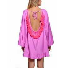 שמלה חוף גדילים משענת